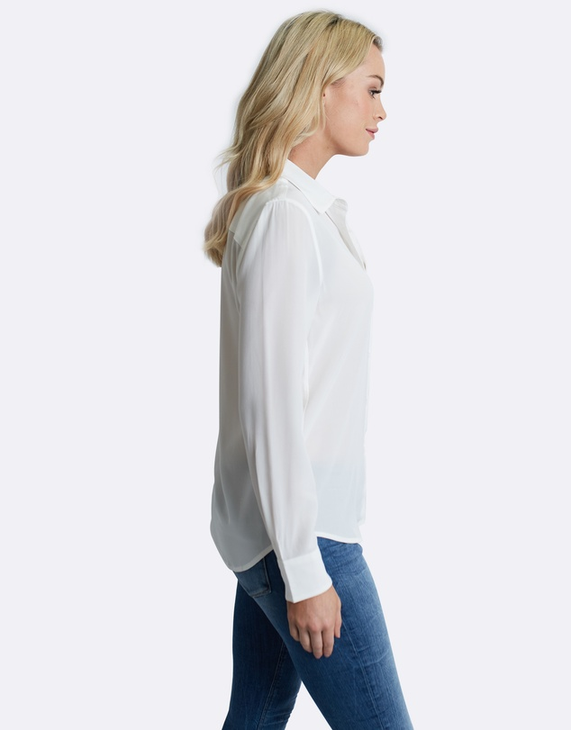The Fable - True White Silk Shirt