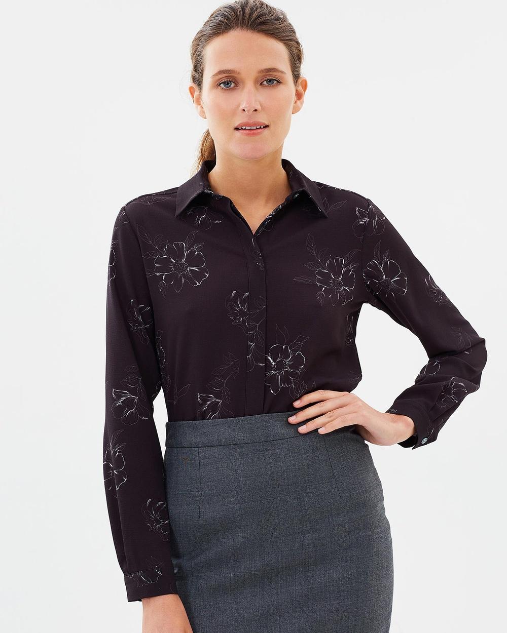 Farage Natalie Shirt Tops Black Natalie Shirt