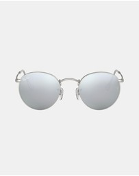 Ray-Ban - Round Metal Flash Lenses