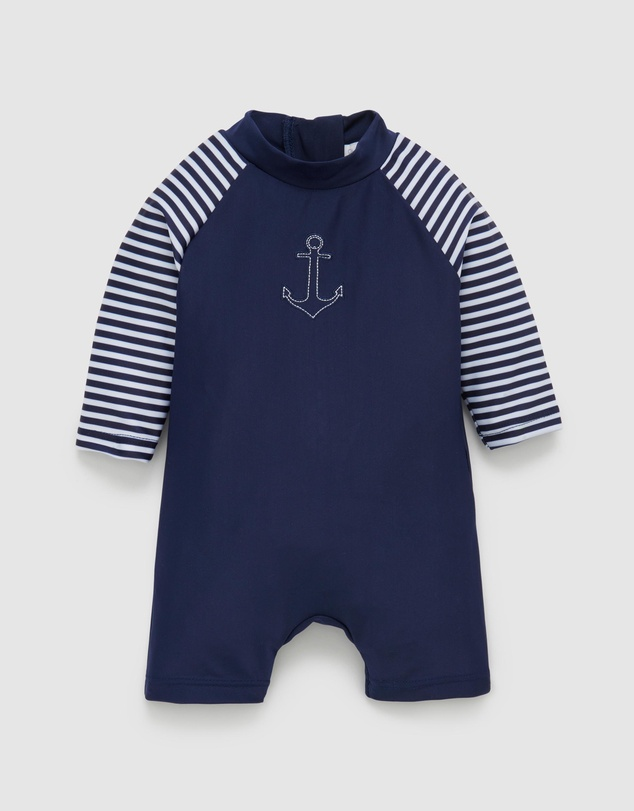 Purebaby - Long Sleeve Sunsuit - Babies-Kids