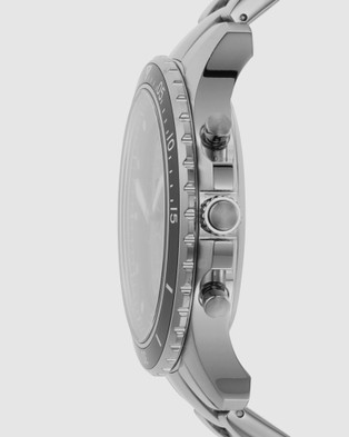 Fossil FB 01 Hybrid HR Silver Tone Smartwatch - Smart Watches (Silver-Tone)