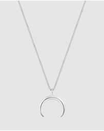 Elli Jewelry - Necklace Crescent Moon Luna Astro 925 Silver