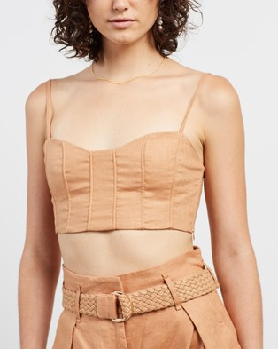 Shona Joy Rosa Fitted Crop Top - Cropped tops (Desert Rose)