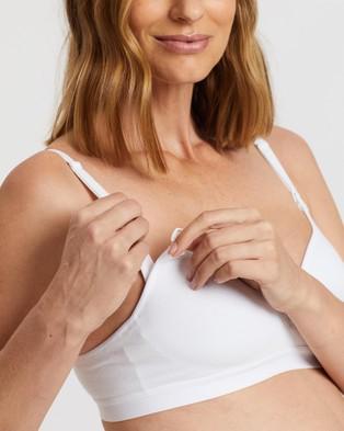 Bonds Maternity Wirefree Contour Bra - Soft Cup Bras (White)