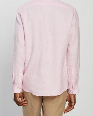 Marcs Felix Linen LS Shirt - Shirts & Polos (Pink )