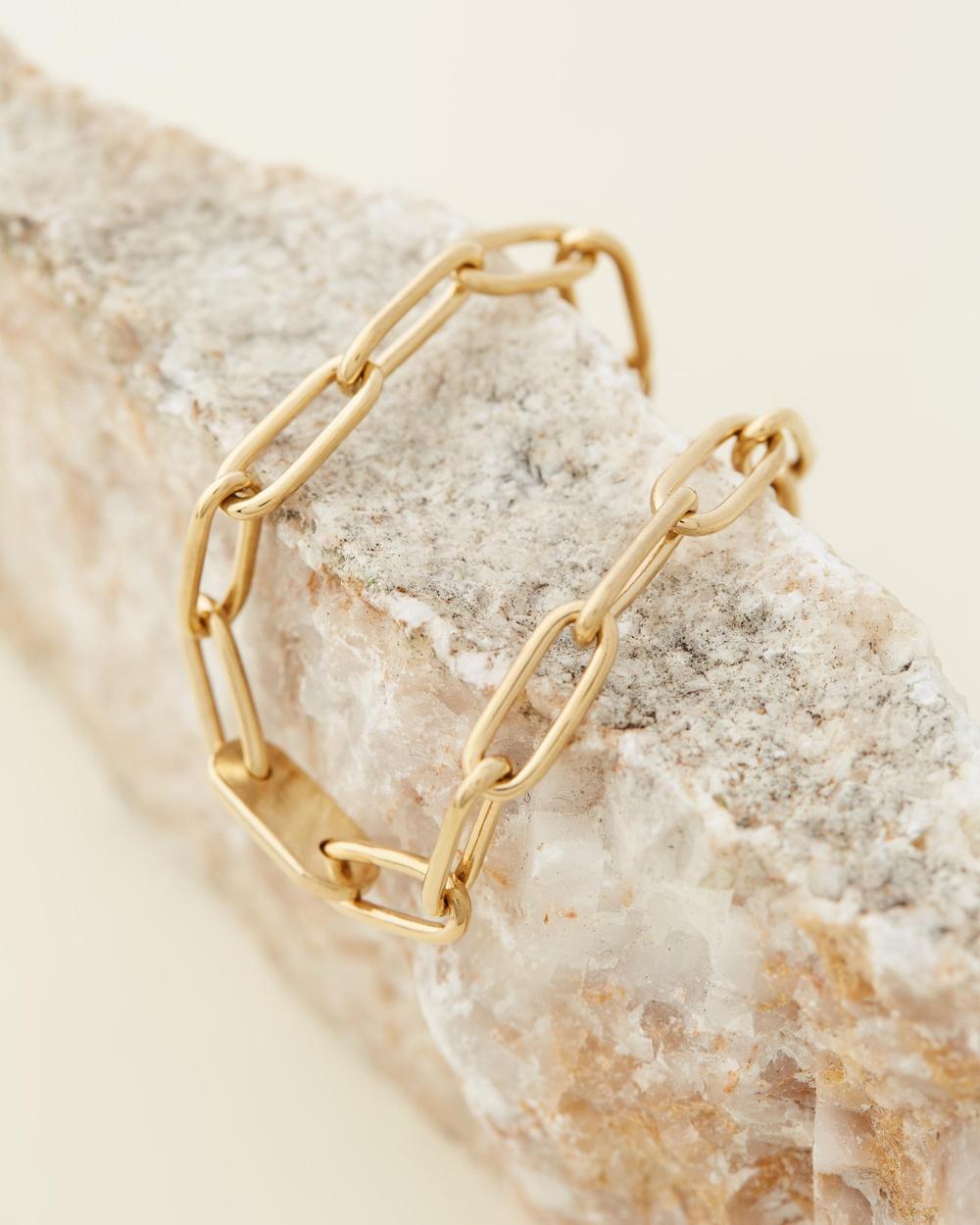 Soko Ellipse Bracelet Jewellery Gold