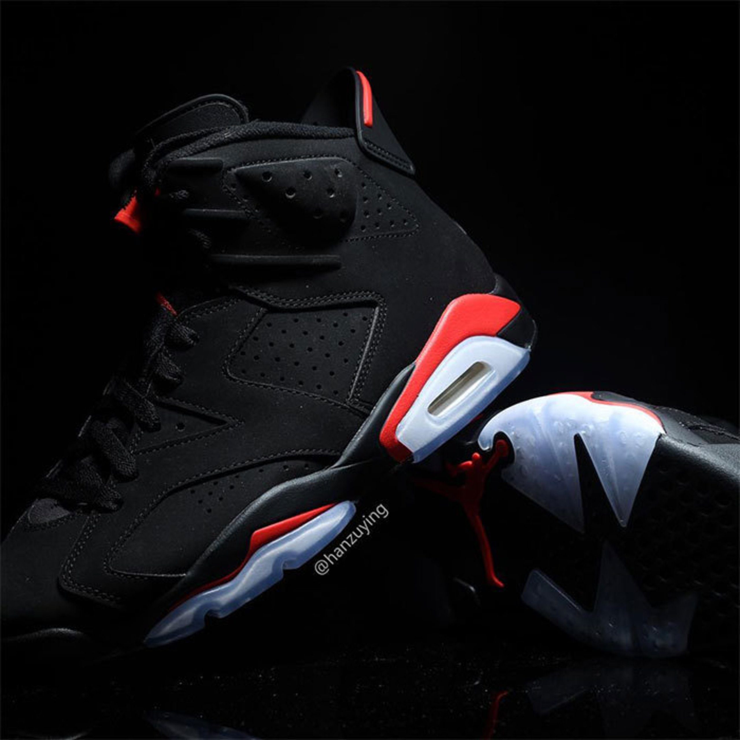 fd13a0fda198 A Closer Look at the 2019 Nike Air Jordan 6  Black Infrared  THE ICONIC  Edition
