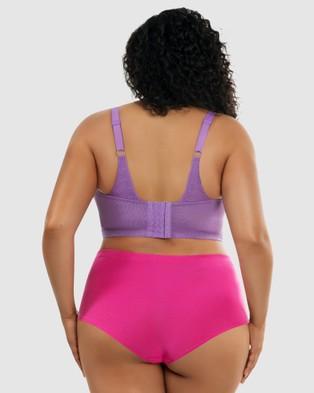 Parfait - Mia Wireless Longline Lace Bralette - Sleepwear & Loungewear (Purple) Mia Wireless Longline Lace Bralette