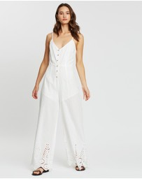 Atmos&Here - Lilly Broderie Hem Jumpsuit