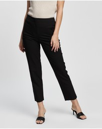 TOPSHOP Petite - High Waist Cigarette Trousers