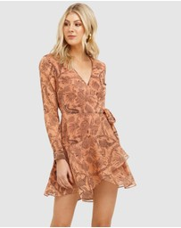 Cooper St - Desert Lily Wrap Mini Dress