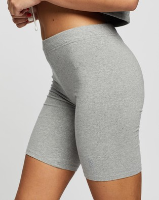 Les Girls Les Boys Jersey Apparel Tight Shorts - High-Waisted (Grey Marl)