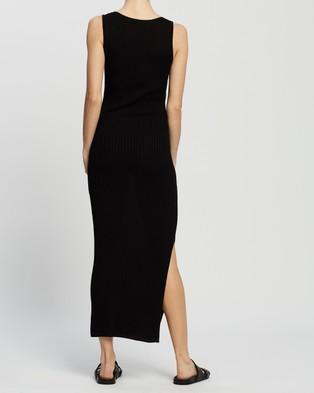 AERE Knit Dress - Bodycon Dresses (Black)