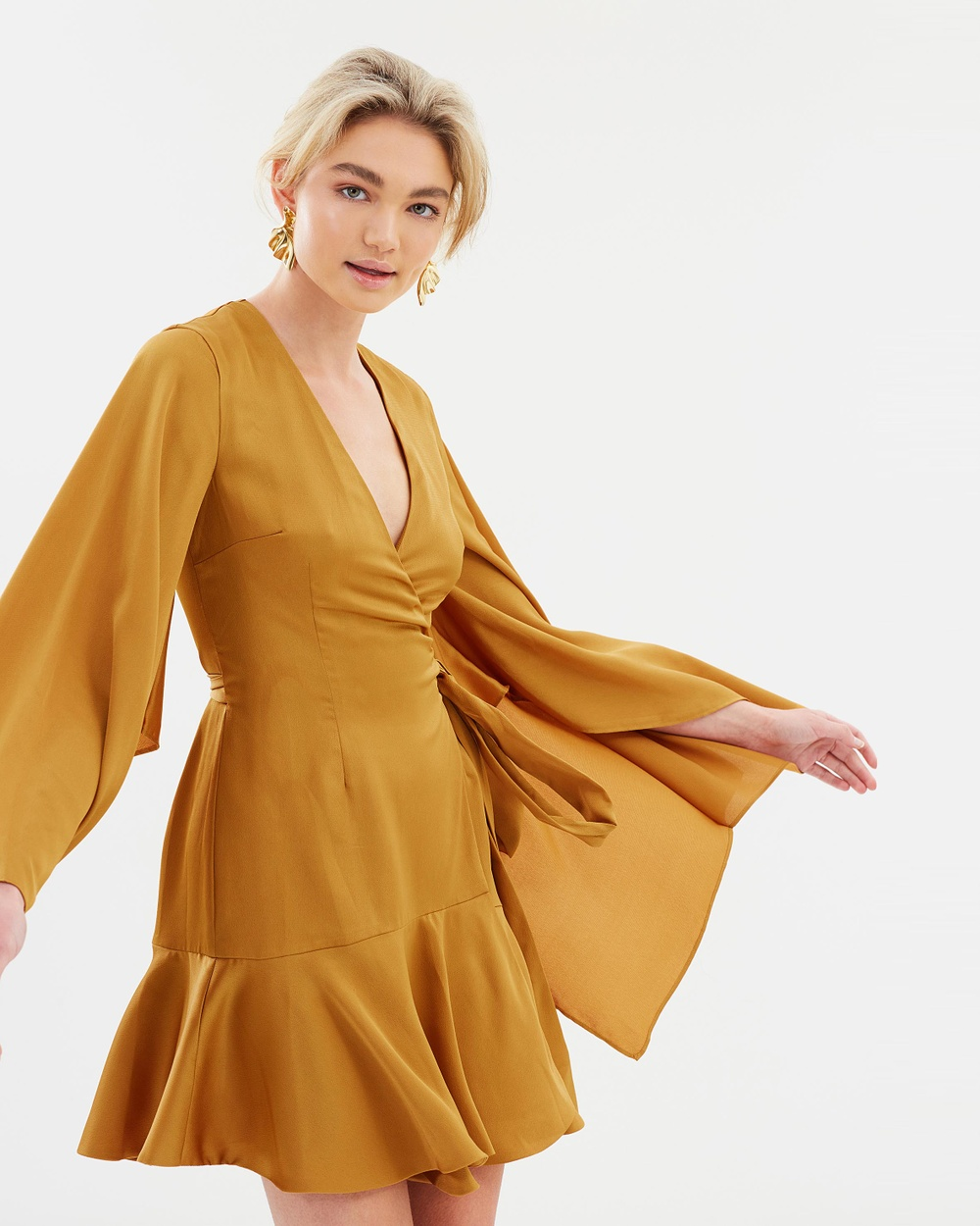 Keepsake the Label Romance Wrap Dress Dresses Amber Romance Wrap Dress