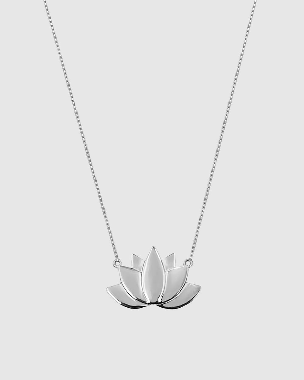 Secret Sisterhood Lotus Necklace Jewellery Silver