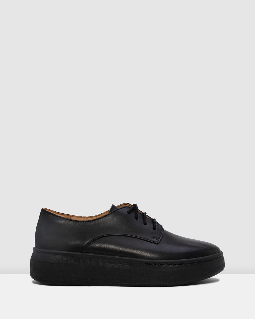 Rollie Derby City Shoes Flats Black Australia