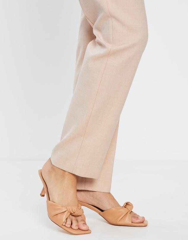 Women Rose Leather Heels