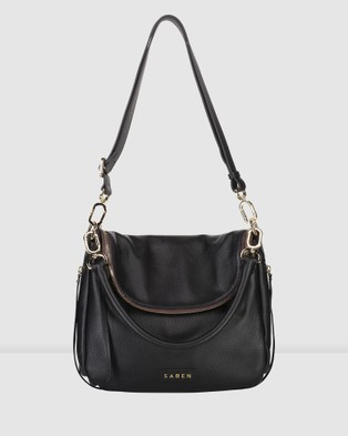 Saben Frankie Leather Handbag - Handbags (Black)
