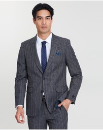 Burton Menswear - Prince of Wales Check Tailored Fit Suit Jacket