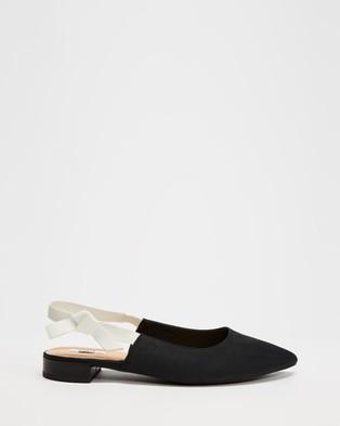 Dazie Blossom Flats - Ballet Flats (Black Grosgrain)
