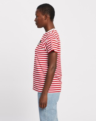 Elvie & Leo - The Wink T Shirt T-Shirts Singlets (Red White Stripe) T-Shirt