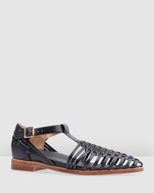 Bared Footwear - Honeyguide Flat Sandals Women's Casual Shoes (Black)