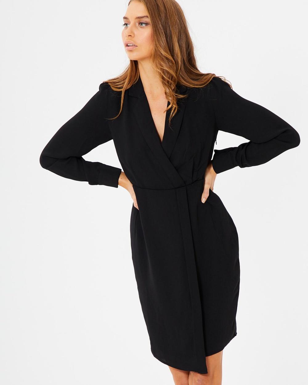Tussah Lorena Shirt Dress Dresses Black Lorena Shirt Dress