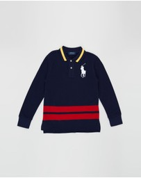Polo Ralph Lauren - Cotton Mesh Long Sleeve Polo - Teens