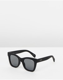 Quay Australia - After Hours Black Square Sunglasses