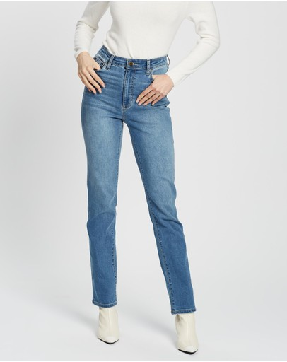 Riders By Lee Classics High Straight Jeans Light Indigo