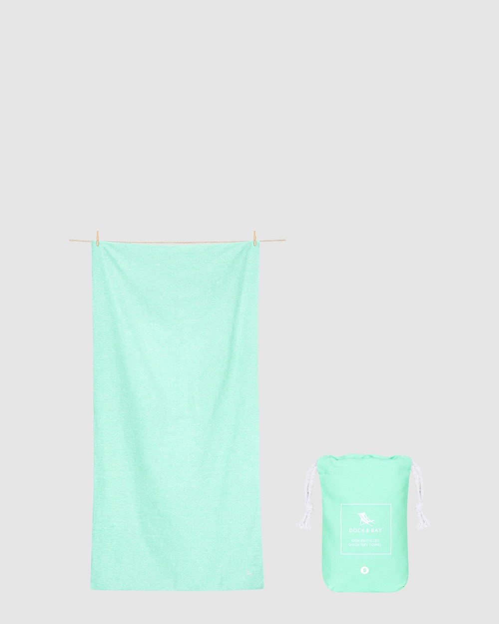 Dock & Bay Small Fitness Towel 100% Recycled Essential Collection Gym Yoga Green