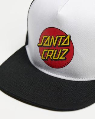 Santa Cruz Classic Dot Trucker   Teens - Headwear (White)