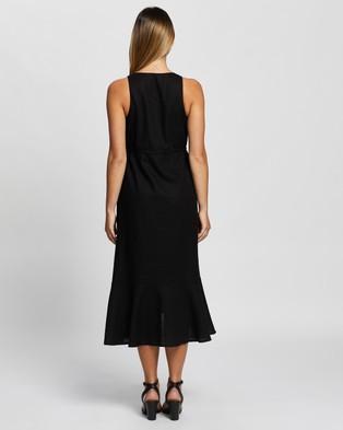 Atmos&Here Mia Linen Blend Maxi Dress - Dresses (Black)