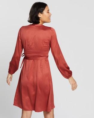 Vero Moda Gamma Wrap Dress - Dresses (Marsala)