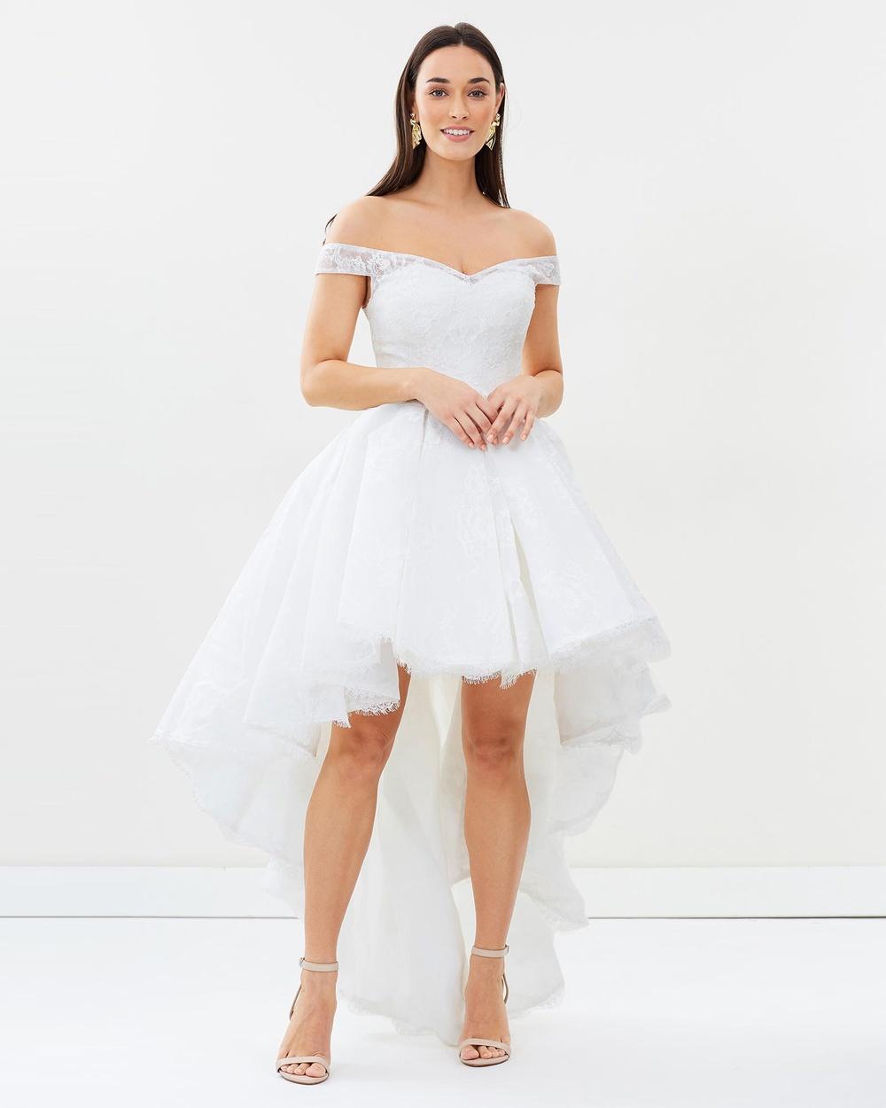 ROXCIIS Adele Hi Low Dress Dresses White Adele Hi-Low Dress