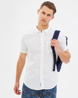 Academy Brand Hampton Linen SS Shirt - Casual shirts (White)