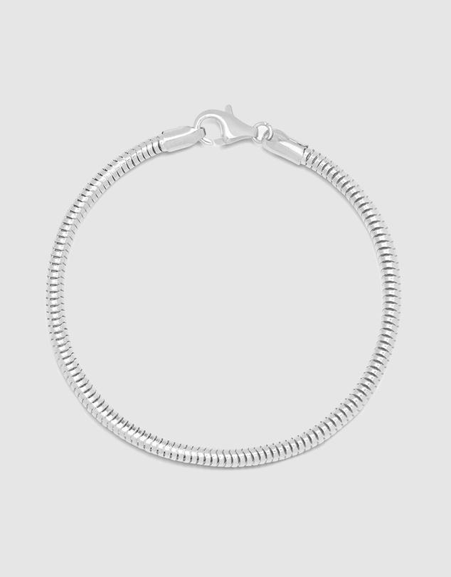 Men Men's Silver Round Chain Bracelet