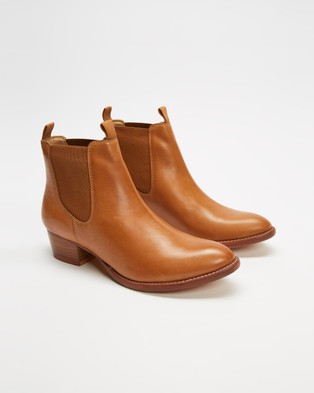 Atmos&Here - Nicole Leather Ankle Boots (Tan Leather)