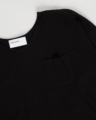 Decjuba Kids - Slouch Long Sleeve Tee   Teens - T-Shirts & Singlets (Black) Slouch Long Sleeve Tee - Teens