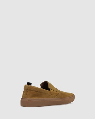 Brando - Nathan Slip on sneakers Casual Shoes (BROWN-200) Slip-on