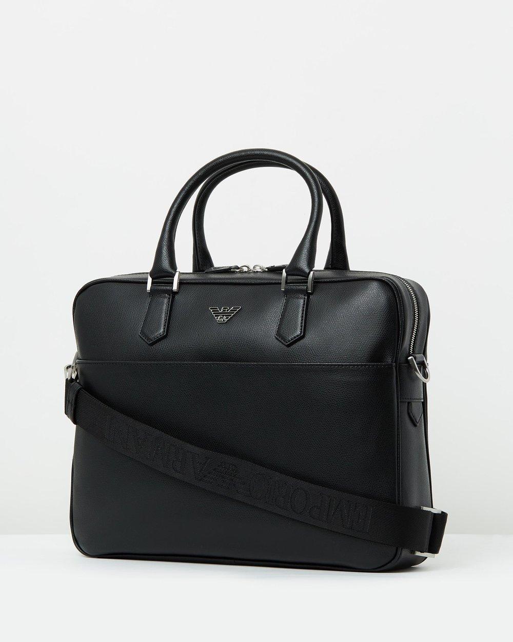 5fb871328849 Leather Briefcase by Emporio Armani Online