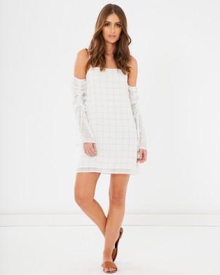 Calli – Ellery Drawstring Dress – Dresses White