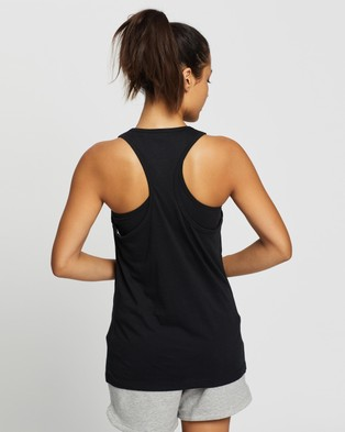 Reebok Performance Ribbed Cotton Tank - Muscle Tops (Black)