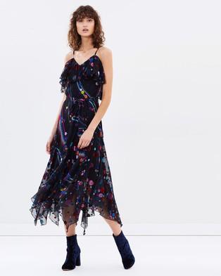 Romance Was Born – Solar Moon Bias Dress – Dresses (Black Multi)