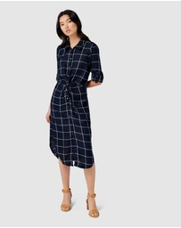 Forever New - Maya Windowpane Check Twist Dress