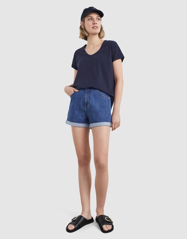 Women Organic Dipped Hem T Shirt