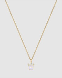 Elli Jewelry - Kids - Necklace Kids Heart Crown Princess Swarovski® Crystals 925 Silver Gold-Plated