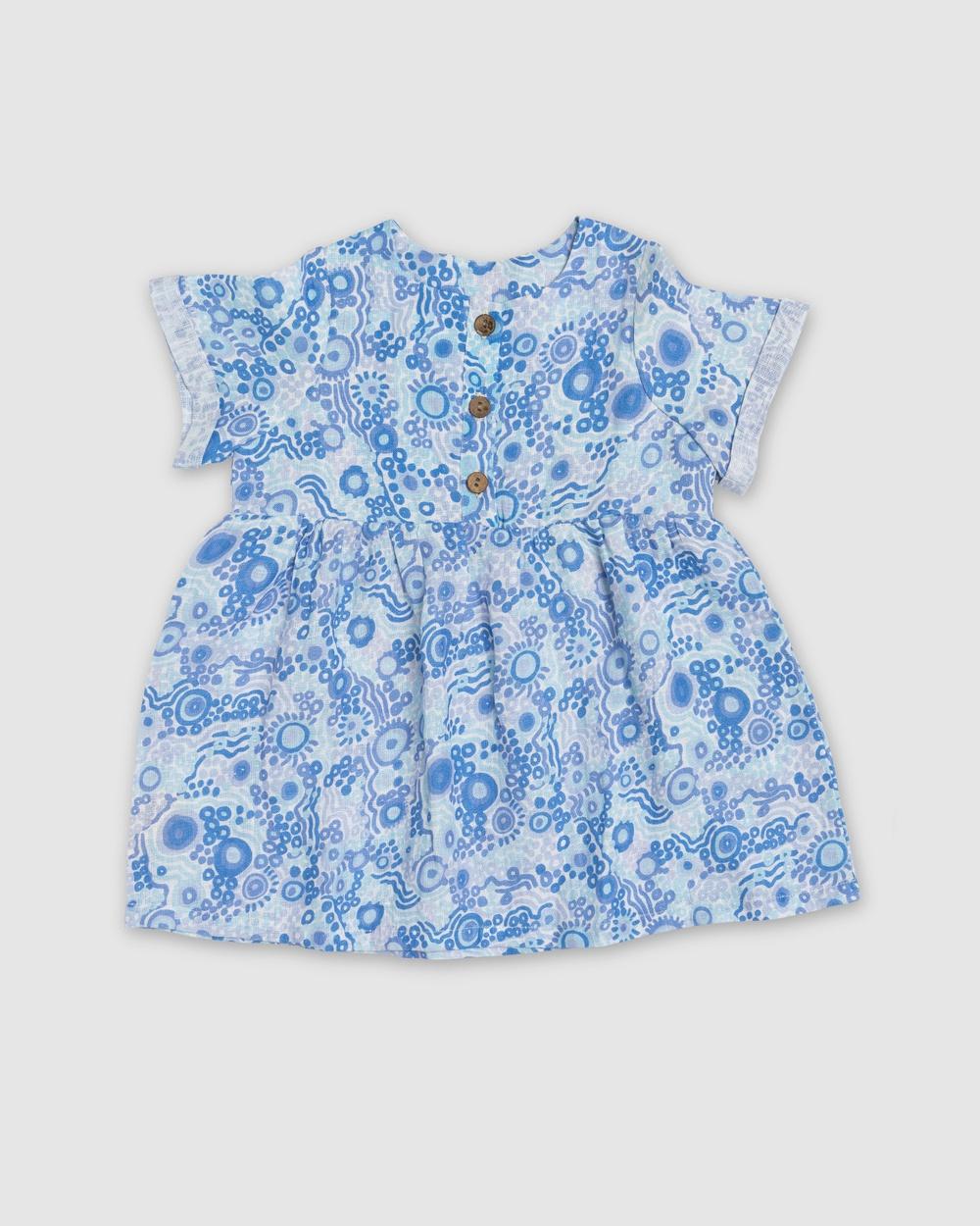 Amber Days Kuu Dreaming Dress Printed Dresses Blue