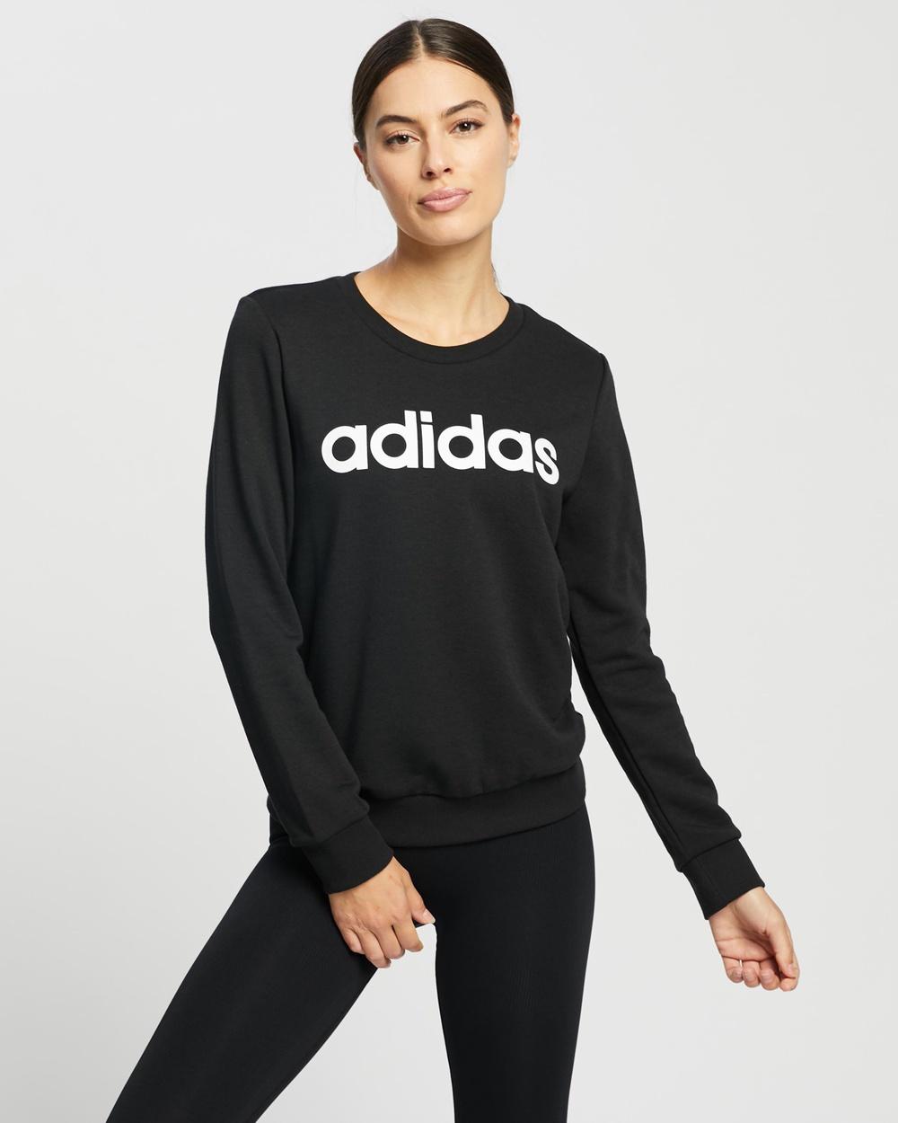 adidas Performance Essentials Logo Sweatshirt Crew Necks Black & White