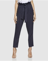 Oxford - Sloane Pinstripe Paperbag Pants